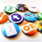 Badges / boutons de chemise Icone Iphone