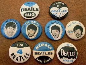 Badge beatles fan