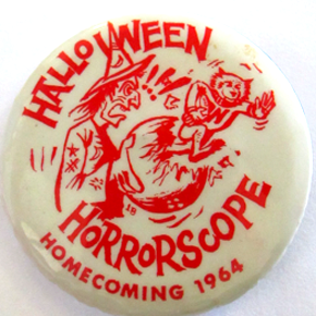 halloween badge 25mm vintage 1964