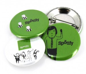 Badges 32mm pour Spotify