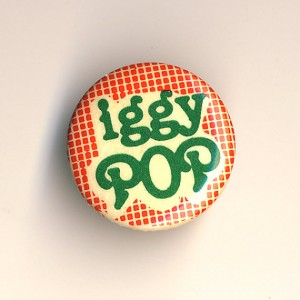 Iggy Pop badge vintage