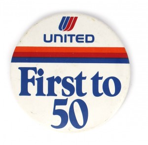 B-First to 50-badge-americain-ancien