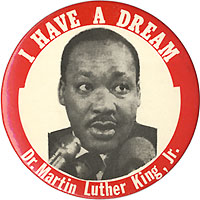 Martin Luther King badge25mm Badge Martin Luther King